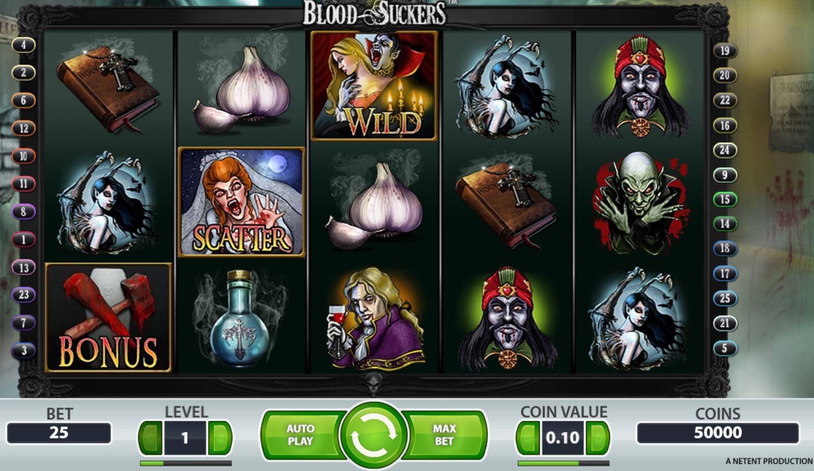 Обзор игрового автомата Blood Suckers